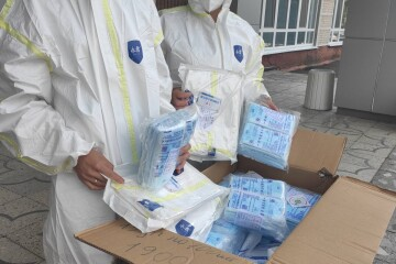The partner city of Xiangtan in China has provided Lutsk with personal protective equipment