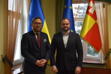 Lutsk City Mayor Ihor Polishchuk met with Ambassador Extraordinary and Plenipotentiary of the Republic of Poland to Ukraine BartoszCichocki