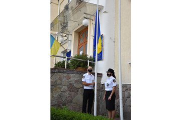The National Flag of Ukraine has been solemnly raised near the Lutsk City Council