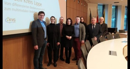 Delegation of Lutsk City Council got acquainted with transport system of the Lippe District (Germany)