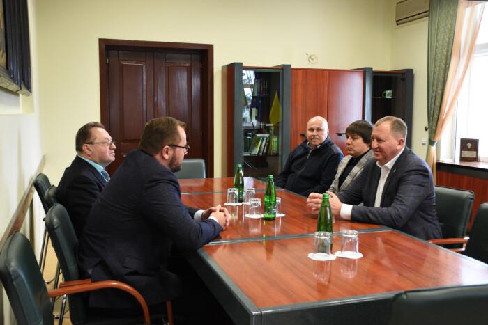 Луцький міський голова Ігор Поліщук зустрівся із Сумським міським головою Олександром Лисенком