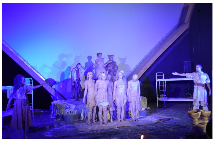 """A street performance of the theater """"HaRmYdEr"""" """"#LUTSKO. The spirit of the city."""" was presented at the Festival of Legends in the city of Lublin"""