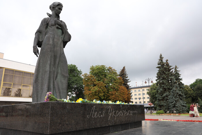 Лучани вшанували 107-му річницю від дня смерті Лесі Українки