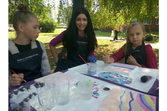 Відбувся майстер - клас з живопису для дітей з сімей учасників АТО