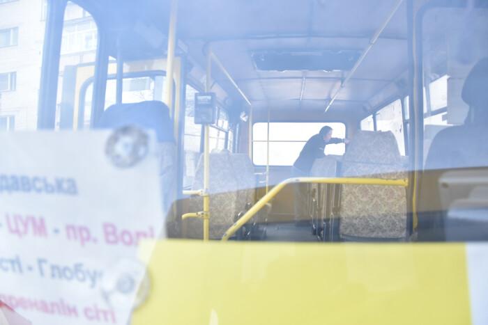 Громадський транспорт міста Луцька проходить дезінфекцію