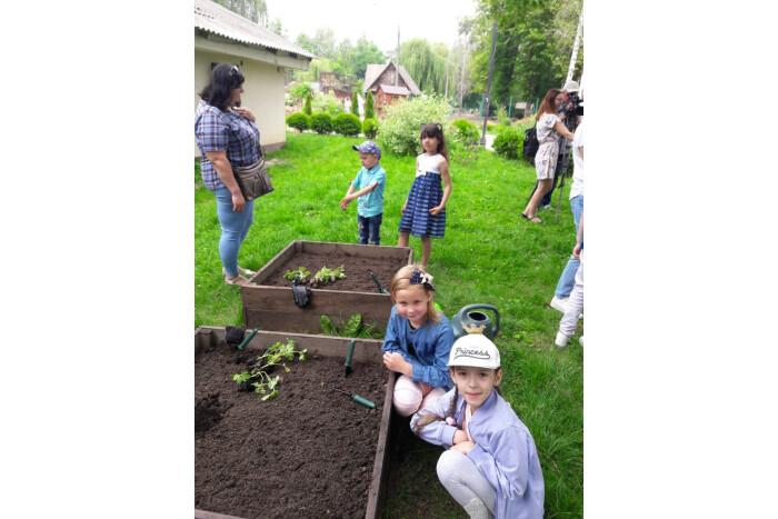 Особливі дітки висаджували овочеві культури  на «міському городі»